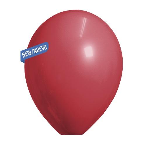 Ballonnen bordeaux standaard 100 stuks