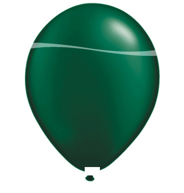 Ballonnen donker groen metallic 10 stuks