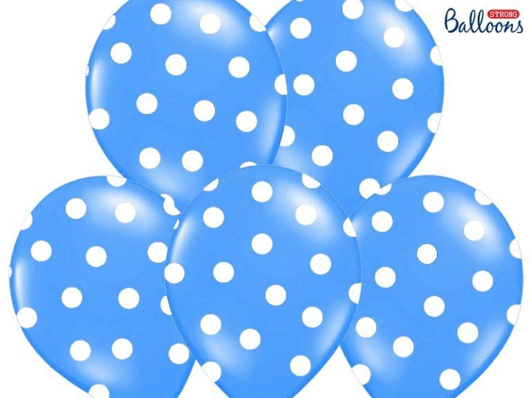 Ballonnen dots blauw 6st