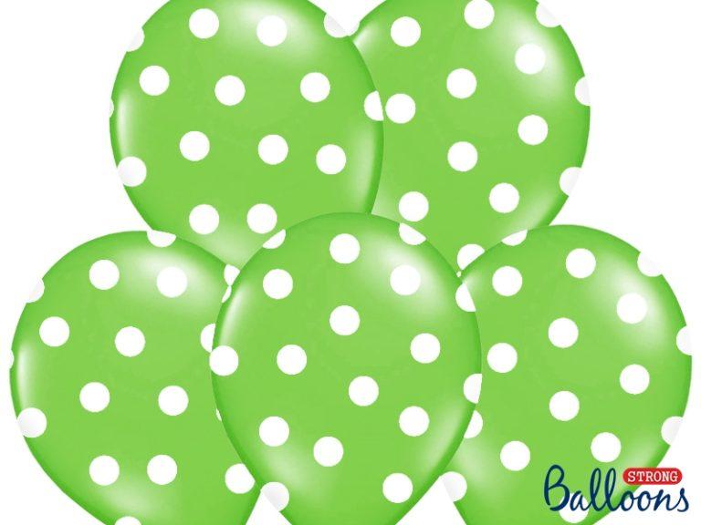 Ballonnen dots groen 6st