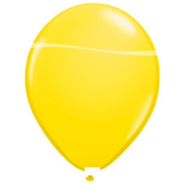Ballonnen geel pastel 100