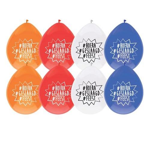 Ballonnen geslaagd # 8 stuks