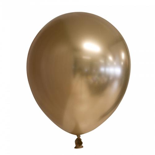 Ballonnen goud chrome 10 stuks