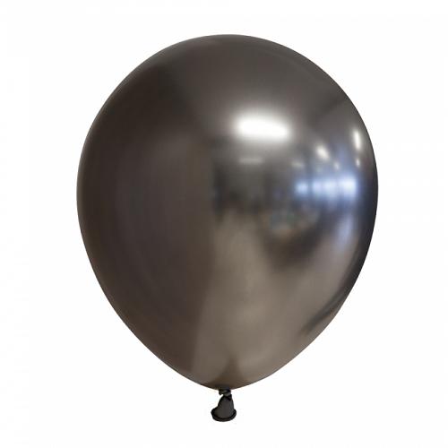 Ballonnen grijs chrome 10 stuks