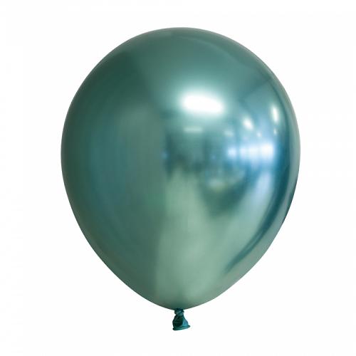 Ballonnen groen chrome 10 stuks