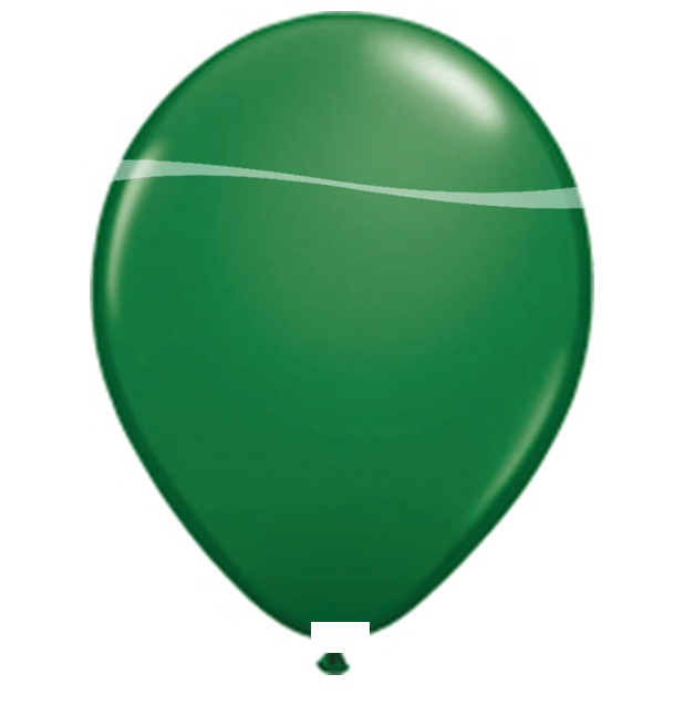 Ballonnen groen metallic 10