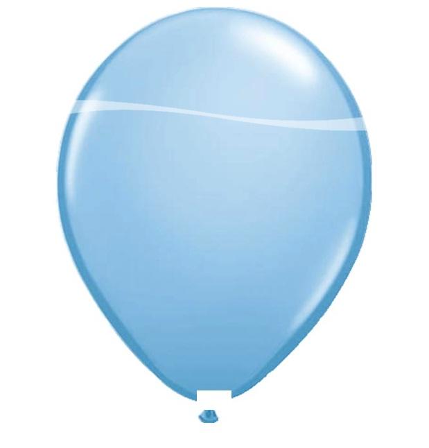 Ballonnen licht blauw metallic 100