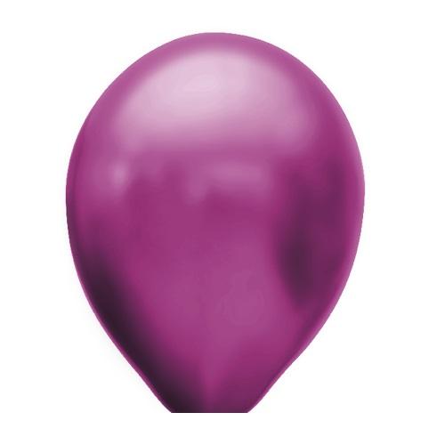 Ballonnen magenta metallic 100 stuks