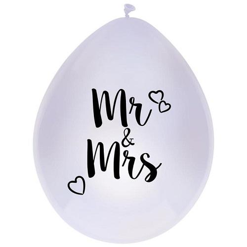 Ballonnen Mr & Mrs 6stuks