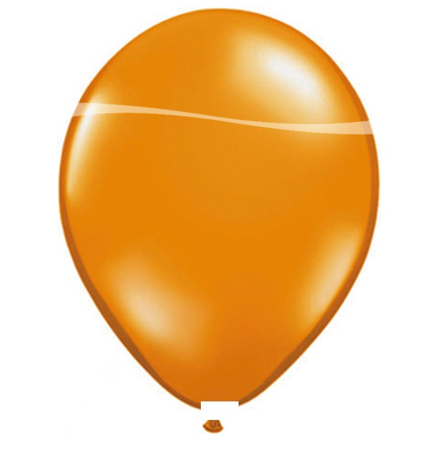 Ballonnen oranje metallic 10