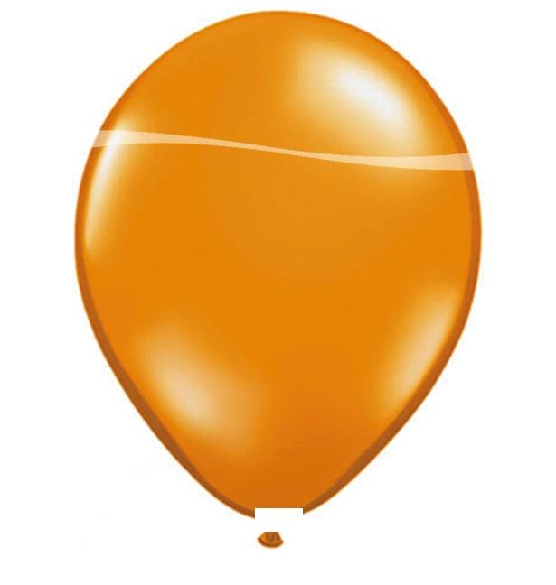 Ballonnen oranje metallic 100