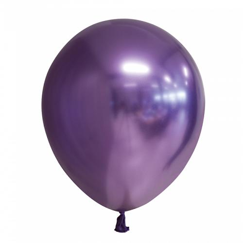 Ballonnen paars chrome 10 stuks