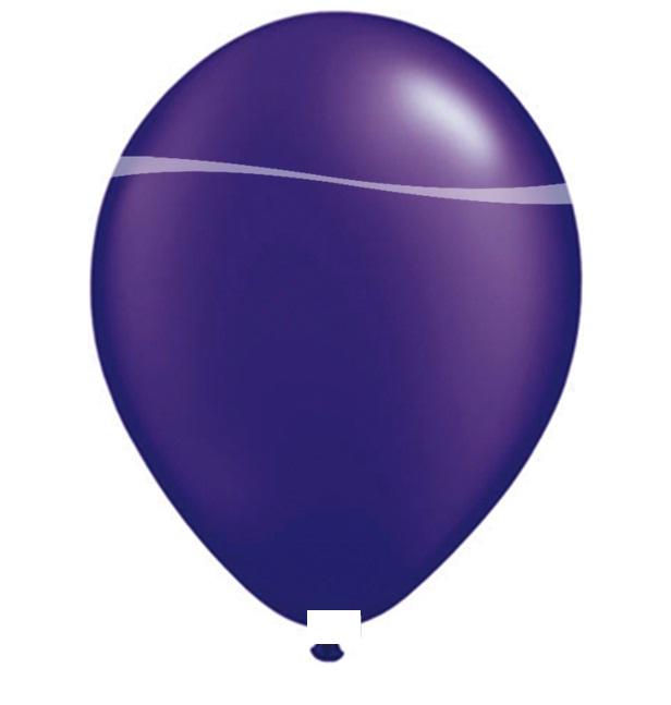 Ballonnen paars metallic 100