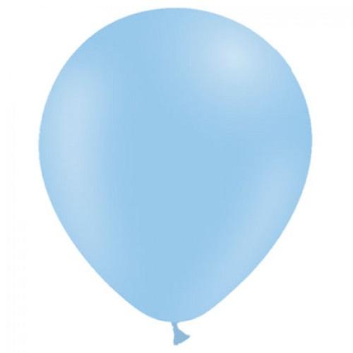 Ballonnen pastel blauw MAT 50 stuks