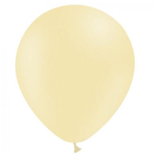 Ballonnen pastel geel MAT 50 stuks