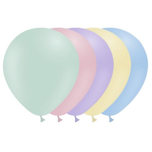 Ballonnen pastel mix MAT 10 stuks