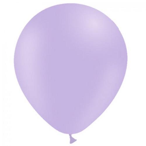Ballonnen pastel paars MAT 50 stuks