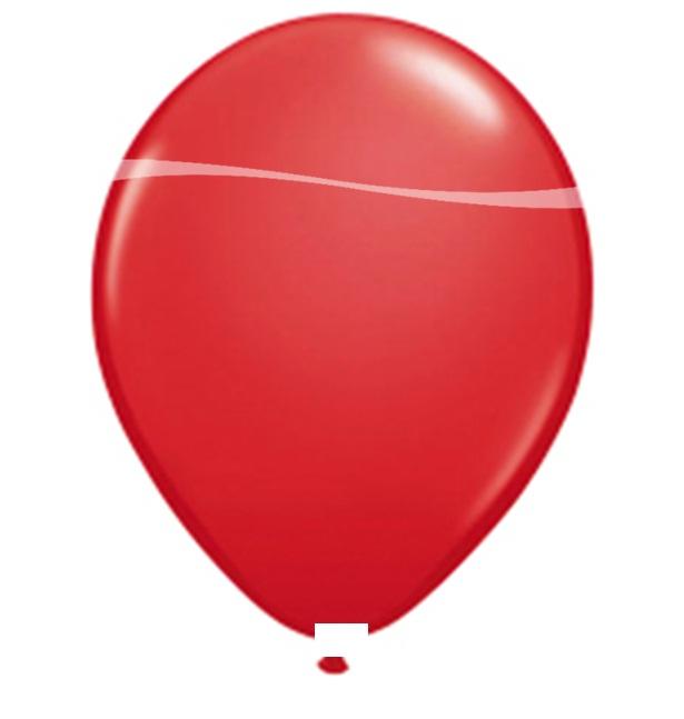 Ballonnen rood metallic 10