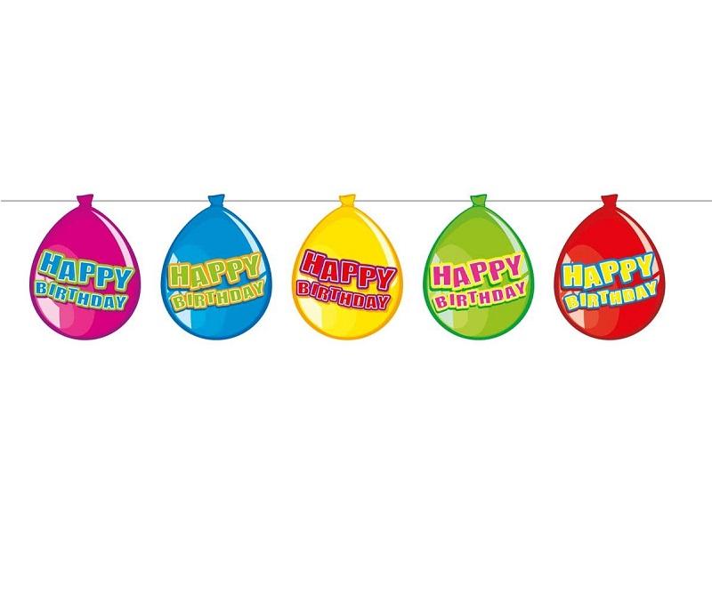 Ballonnen slinger Happy Birthday