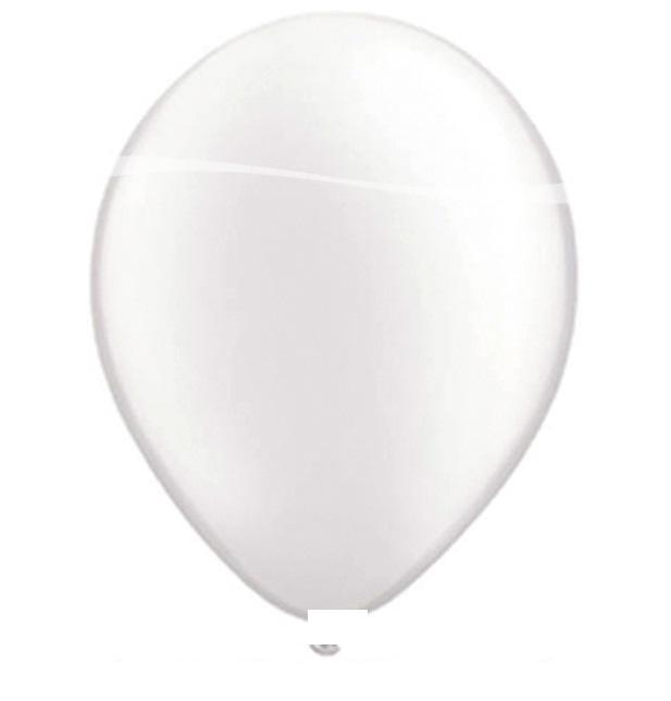 Ballonnen wit metallic 10