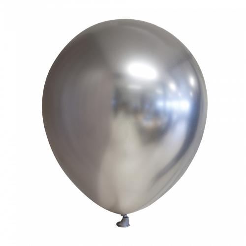 Ballonnen zilver chrome 10 stuks