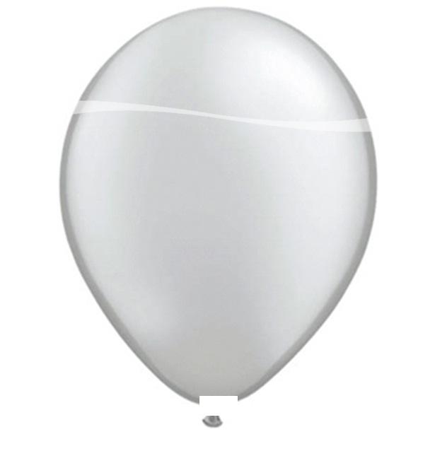 Ballonnen zilver metallic 100