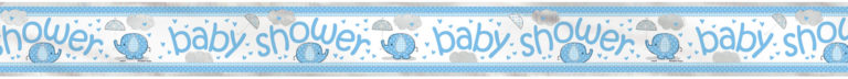 Banner baby shower blue