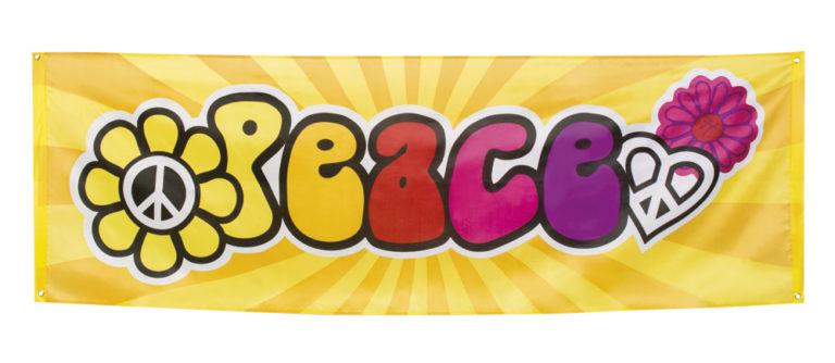 Banner Hippie peace 74x220cm