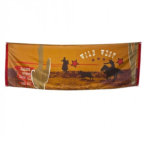 Banner Wild West 220x74cm