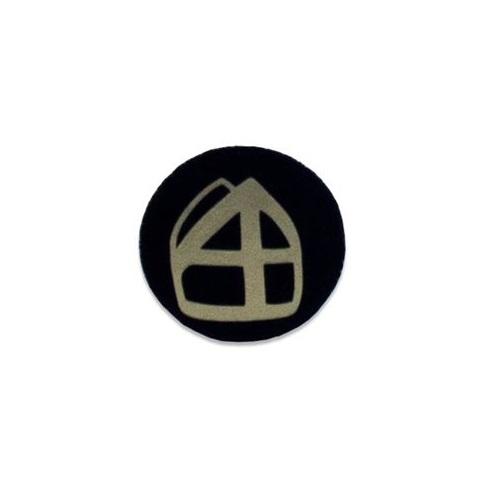 Baretspeld / button met mijter zwart