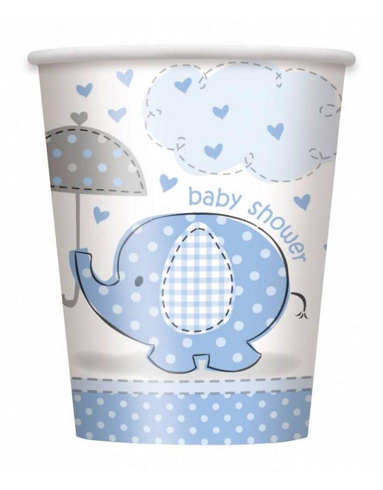 Bekers Baby Shower Blauw