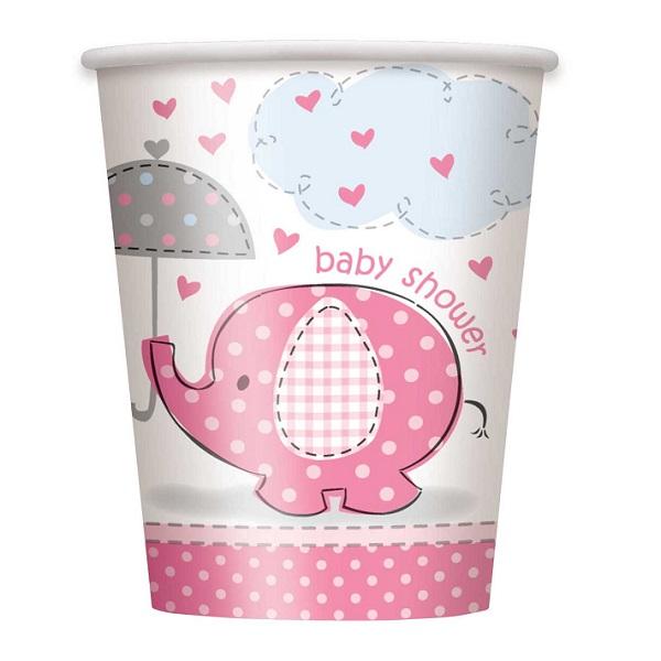 Bekers Baby Shower Roze
