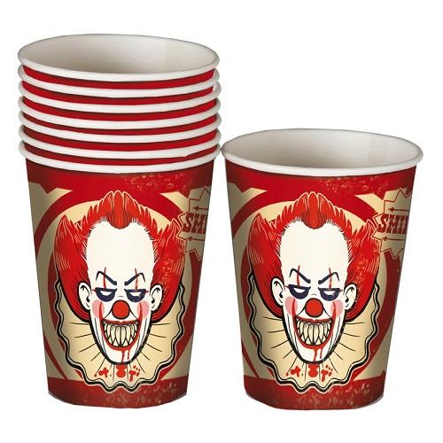 Bekertjes clown vintage 8st