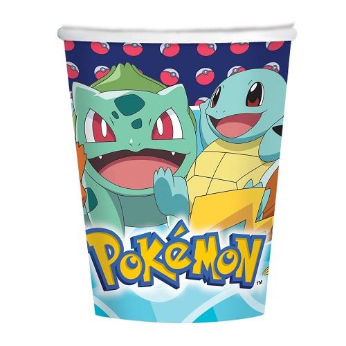 Bekertjes Pokemon 8st