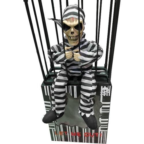 Bewegende prisoner in cage met geluid
