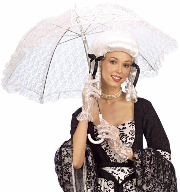 Biedermeier paraplu wit