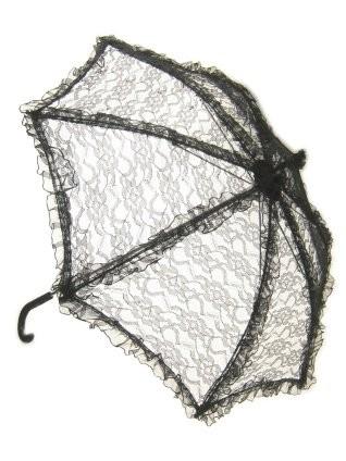 Biedermeier paraplu zwart