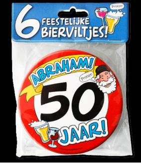 Bierviltjes 50 Abraham