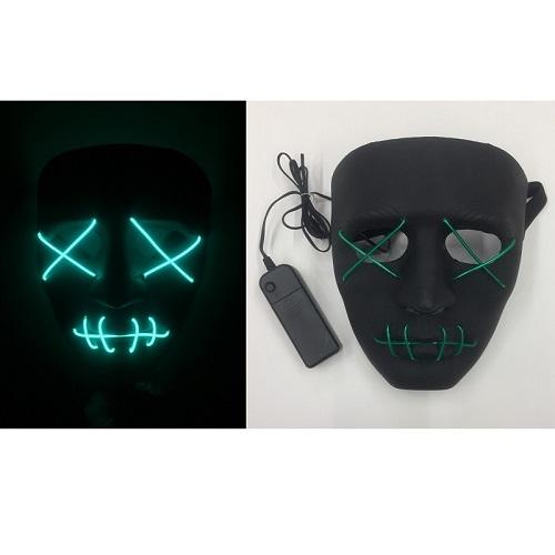 Black face masker met licht The Purge