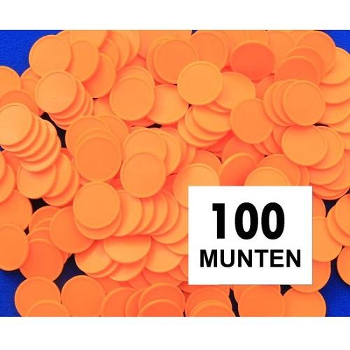 Blanco consumptiemunten oranje 100st