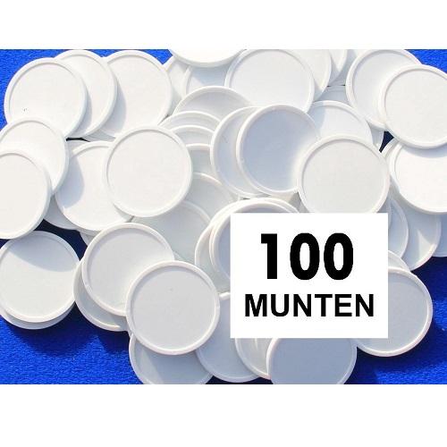 Blanco consumptiemunten wit 100st