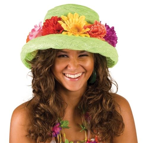 Bloem hoed groen