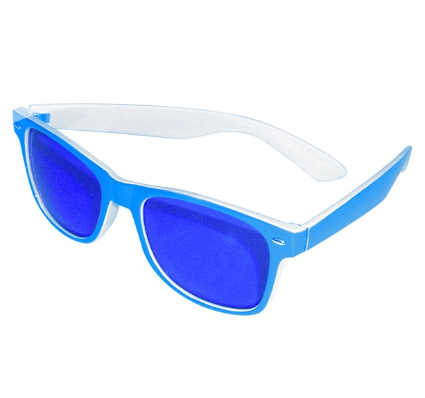 Blues Brother bril blauw/wit