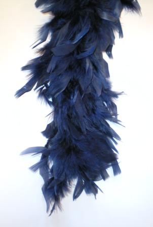 Boa donkerblauw 180 cm
