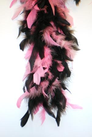 Boa roze/zwart 180 cm