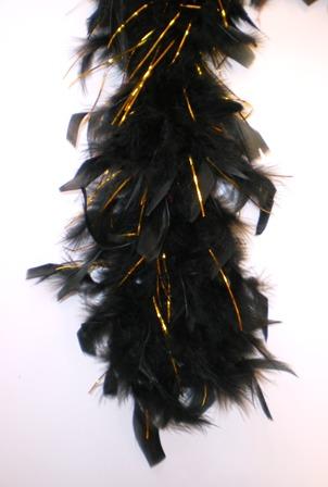 Boa zwart met goud 180cm