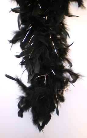 Boa zwart met zilver 180cm