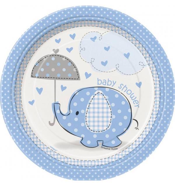 Bord Baby Shower Blauw
