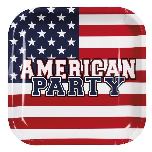 Bordjes Amerikaanse vlag 6st