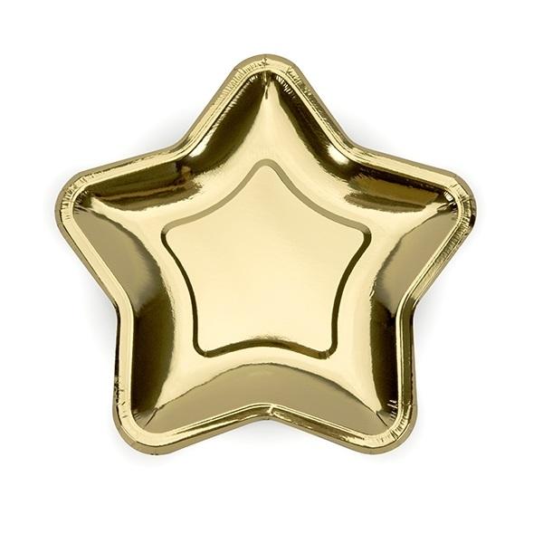 Bordjes goud stervorm 6 stuks